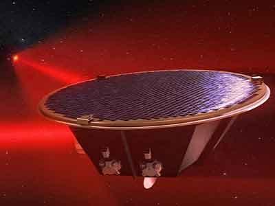 Artist's depiction of the LISA satellite
